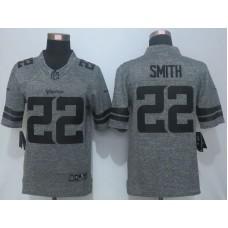 2016 New Nike Minnesota Vikings 22 Smith Gray Men's Stitched Gridiron Gray Limited Jersey.