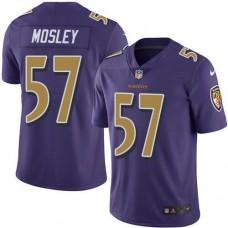 2016 Nike Baltimore Ravens 57 C.J. Mosley Purple Men Stitched NFL Limited Rush Jersey