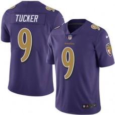 2016 Nike Baltimore Ravens 9 Justin Tucker Purple Men Stitched NFL Limited Rush Jersey