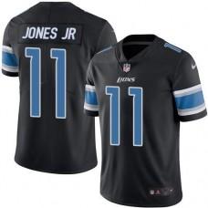 2016 Nike Detroit  Lions 11 Marvin Jones Jr Black Men Stitched NFL Limited Rush Jersey