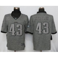 2016 Nike Philadelphia Eagles 43 Sproles Gray Men Stitched Gridiron Gray Limited Jersey