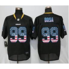 2016 Los Angeles Chargers 99 Bosa USA Flag Fashion Black New Nike Elite Jerseys