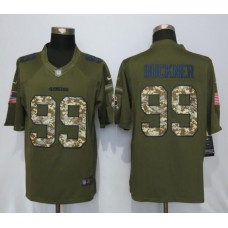 2016 San Francisco 49ers 99 Buckner Green Salute To Service Nike Limited Jersey
