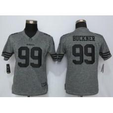2016 Women Nike San Francisco 49ers 99 Buckner Gray Stitched Gridiron Gray Limited Jersey