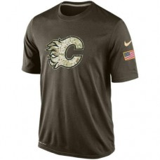 2016 Mens Calgary Flames Salute To Service Nike Dri-FIT T-Shirt