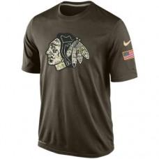 2016 Mens Chicago Blackhawks Salute To Service Nike Dri-FIT T-Shirt