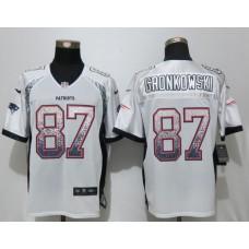 2017 New Nike New England Patriots 87 Gronkowski Drift Fashion White Elite Jerseys