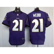 Baltimore Ravens 21 Webb Purple Nike Elite Jersey