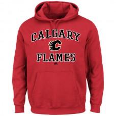 2016 NHL Calgary Flames Majestic Heart Soul Hoodie - Red
