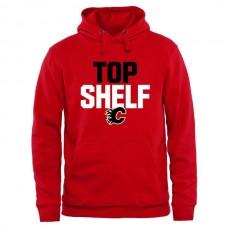 2016 NHL Calgary Flames Top Shelf Pullover Hoodie - RED