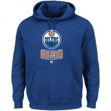 2016 NHL Edmonton Oilers Majestic Critical Victory VIII Fleece Hoodie - Blue