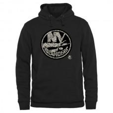 2016 NHL Men New York Islanders Black Rink Warrior Pullover Hoodie