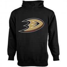 2016 NHL Old Time Hockey Anaheim Ducks Youth Big Logo Fleece Pullover Hoodie - Black