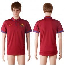 2016 Barcelona away polo shirt red AAA+ soccer jerseys