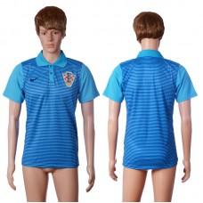 2016 Croatia away polo shirt blue AAA+ soccer jerseys
