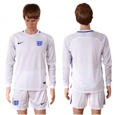 2016 Europe England white goalkeeper long sleeves soccer jerseys