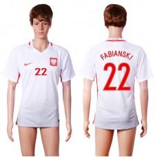 2016 European Cup Poland home 22 FABIANSKI White AAA+ Soccer Jersey