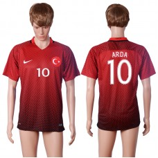 2016 European Cup Turkey home 10 ARDA Red AAA+ Soccer Jersey