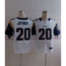 2014 Nike NFL St. Louis Rams 20 Joyner white Elite Jerseys