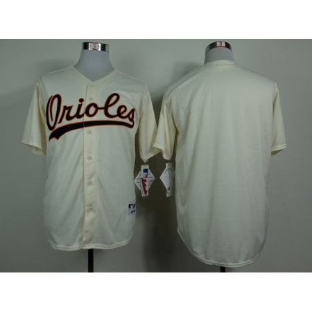 MLB Baltimore Orioles Blank Gream 1954 Turn The Clock Jersey
