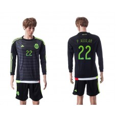 2015 Mexico Copa America 22 P.AGUILAR Long Sleeve Home Jersey